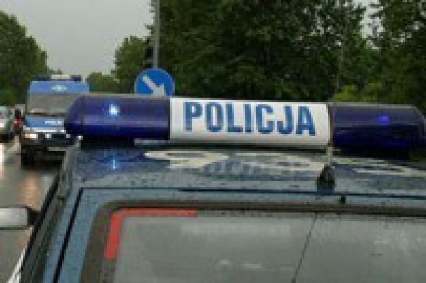 Policja na motoryzacyjnej minie