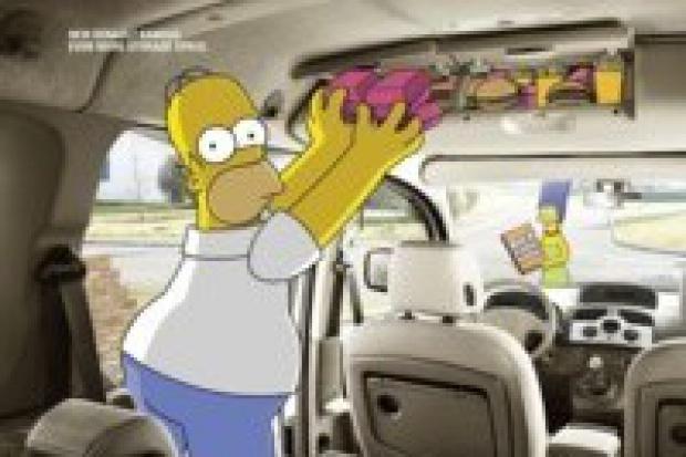 Rodzina Simpsonów testuje nowe kangoo