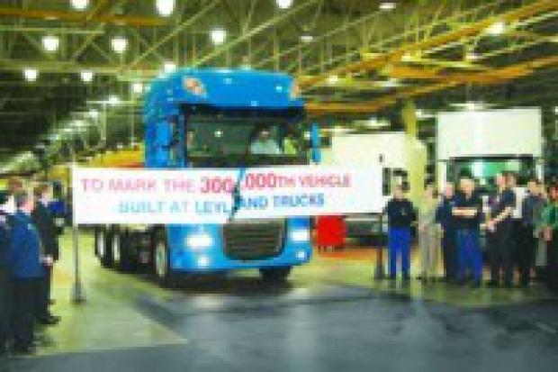 300-tysięczna ciężarówka z fabryki w Leylandzie