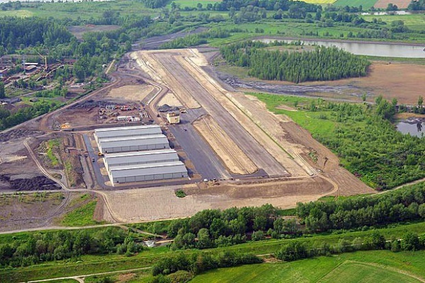 Park lotniczy na hałdzie