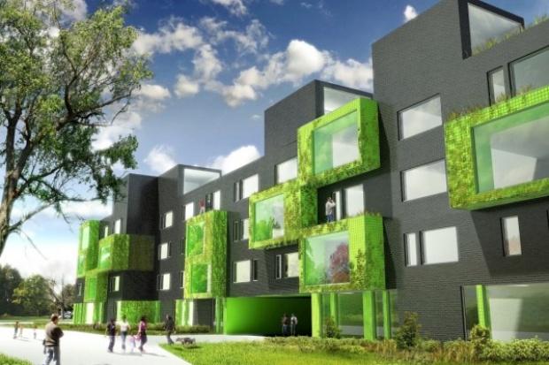 W centrum Katowic będzie budynek z trawą na dachu