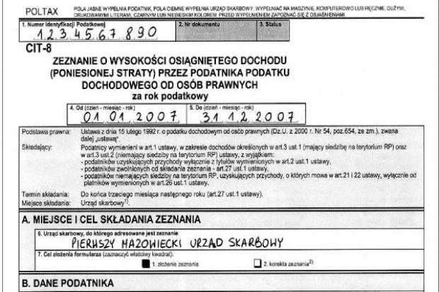 """""""Bezpieczny CIT-8"""" lub  """"Roentgen podatkowy"""""""