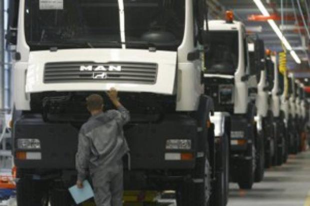Załamanie sprzedaży ciężarówek