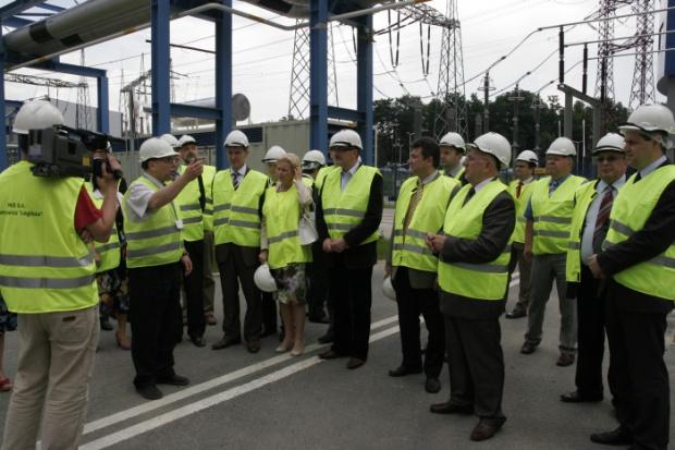 Parlamentarzyści zobaczyli nowy blok w Elektrowni Łagisza