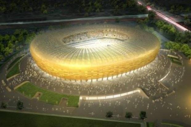 Stadion Baltic Arena budowany z rur Salzgitter Mannesmann