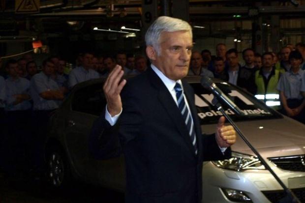 Jerzy Buzek wierzy w sukces gliwickiego Opla