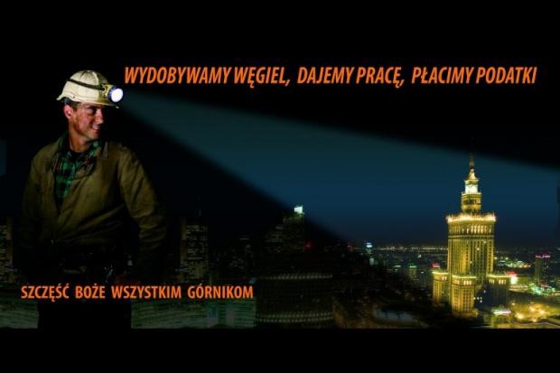 Billboardy promujące górnictwo na ulicach Warszawy