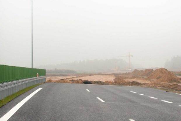 Budowa A1 na zakręcie