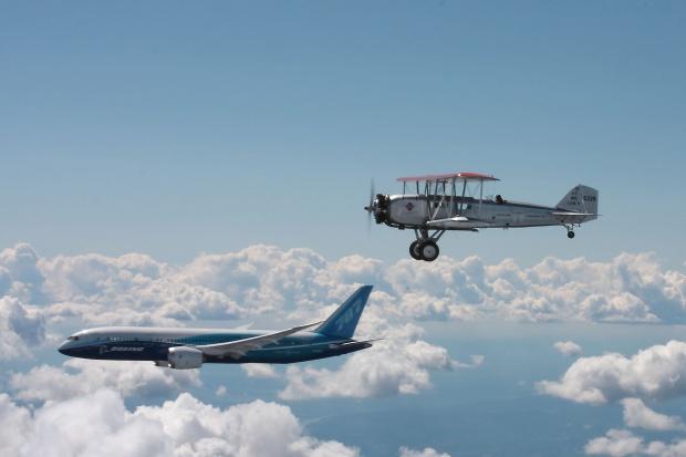Niezwykłe spotkanie Boeingów