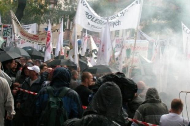 23 czerwca górnicza demonstracja pod siedzibą Kompanii Węglowej