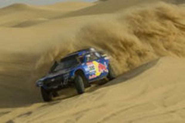 Volkswagen spakowany na Dakar