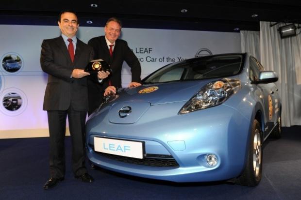 Nissan odebrał trofeum dla modelu Leaf