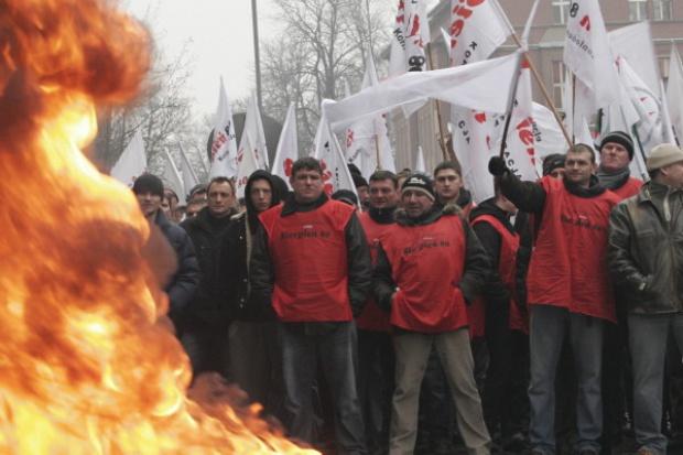 Górnicy po demonstracji pod KHW: jak nic się nie zmieni, to będą kolejne, dużo większe protesty
