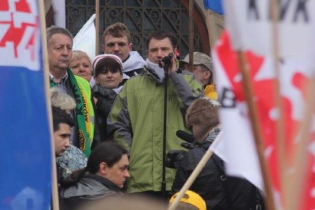 Wielka górnicza demonstracja w Katowicach