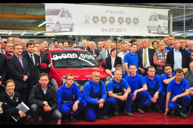 Fabryka w Tychach wyprodukowała 2000000 Fiatów Panda