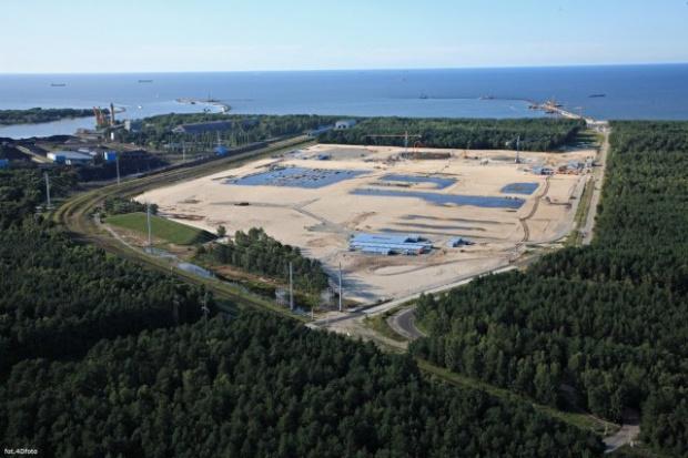 Minister Skarbu Państwa na placu budowy terminalu LNG w Świnoujściu