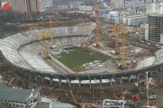 Stadion Olimpijski w Kijowie coraz bliżej finiszu