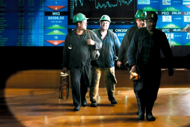 Spółki węglowe i energetyczne wśród liderów spadków na giełdzie