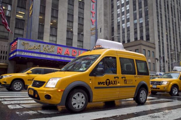 Transit Connect taksówką w Nowym Jorku