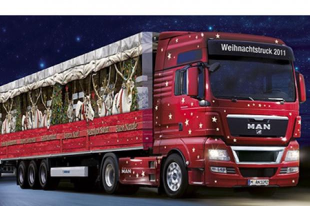 Świąteczne ciężarówki MAN w trasie