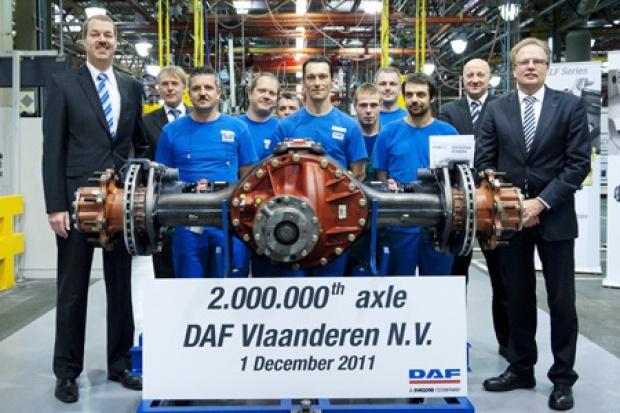 2 miliony osi z DAF Vlaanderen
