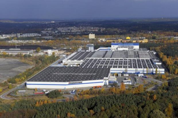 Protest związkowców z poznańskiej fabryki Bridgestone