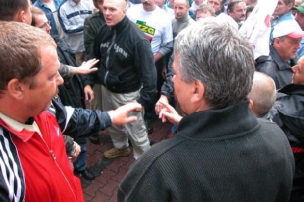 Protest pod Sejmem z udziałem ponad tysiąca górników