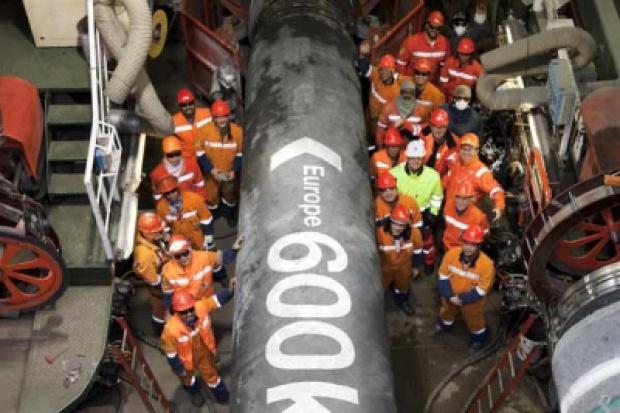 Nord Stream stanie na dwa tygodnie. Budowa dobiega końca