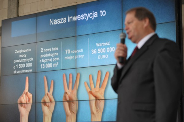 Rusza nowa inwestycja Exide Technologies SA