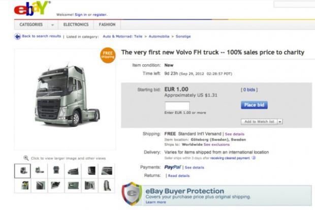 Aukcja charytatywna pierwszego najnowszego Volvo FH