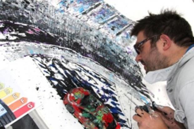 Obraz malowany ... oponami