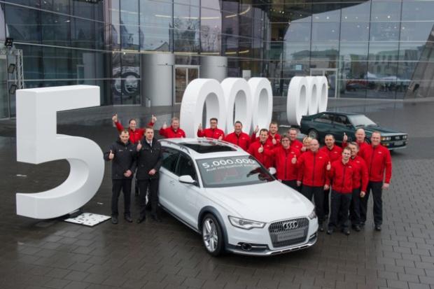 5 milionów Audi z napędem quattro