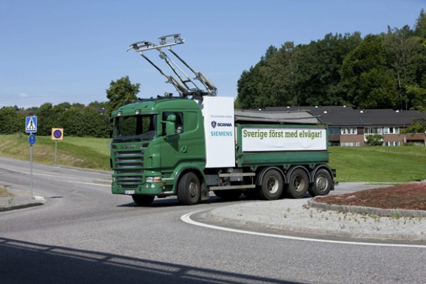 Scania i Siemens: ciężarówka jak trolejbus?