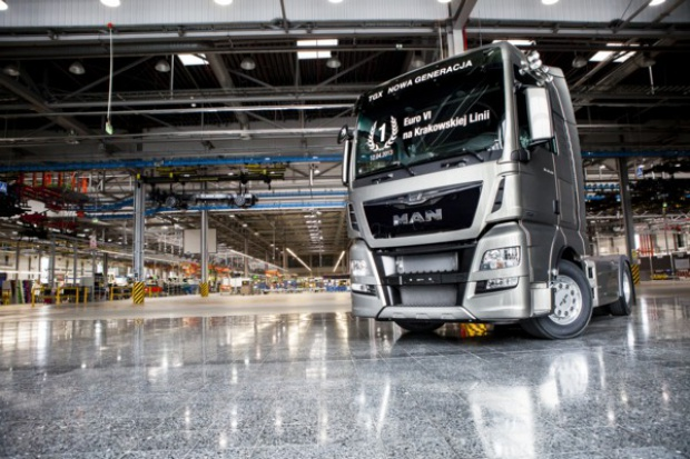 Z Niepołomic wyjeżdżają ciężarówki MAN Euro 6