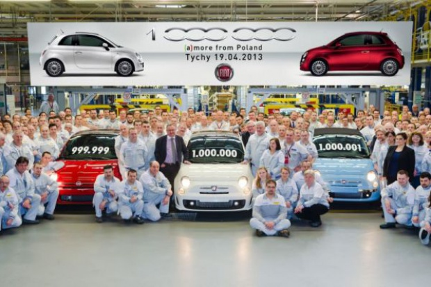 Milionowa pięćsetka z tyskiej fabryki Fiata