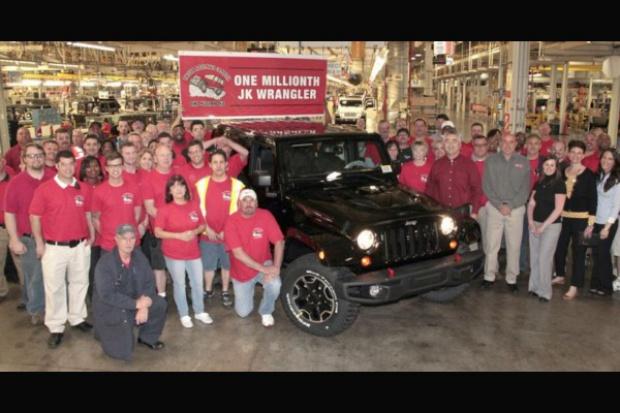 Milion razy Jeep Wrangler