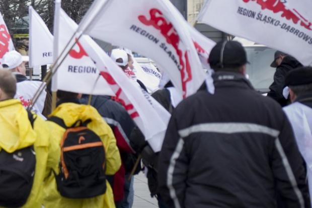 Wielkie emocje podczas manifestacji w obronie kopalni Brzeszcze