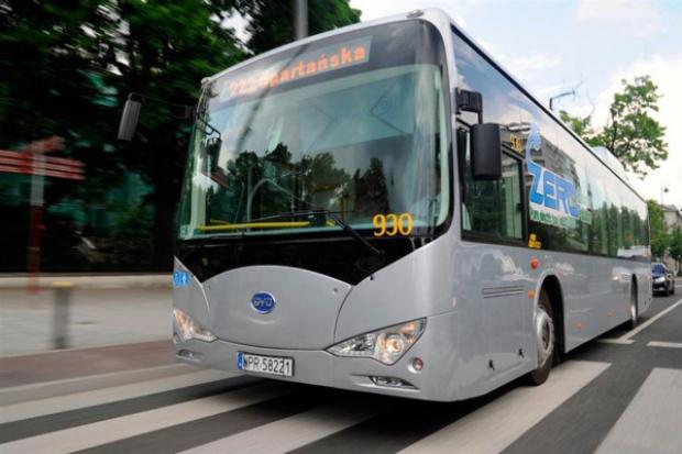 Elektryczny autobus na testach w stolicy
