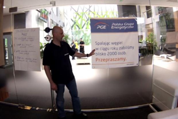 Greenpeace okupował gabinet prezesa PGE