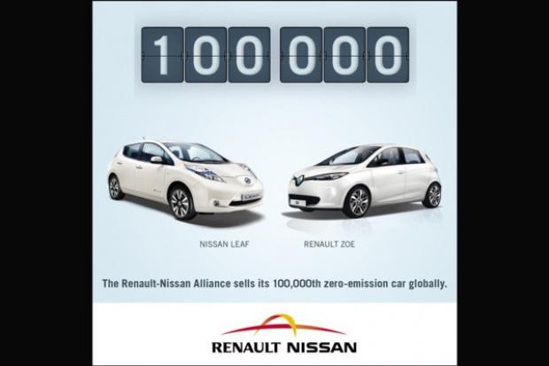 Renault-Nissan sprzedał 100 tys. aut z zerową emisją.