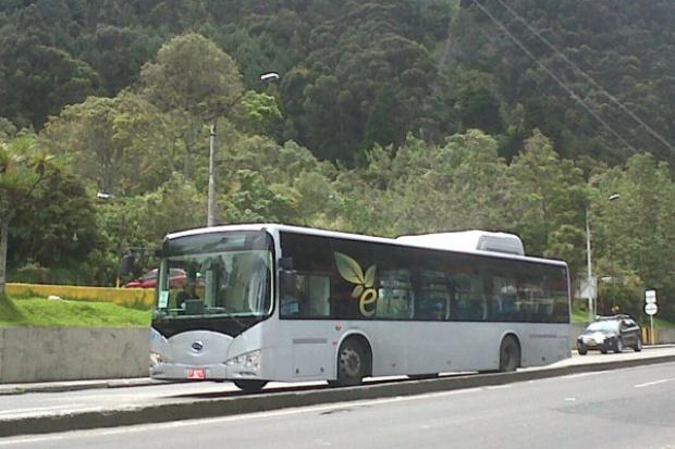 Elektryczny autobus BYD po testach w Kolumbii
