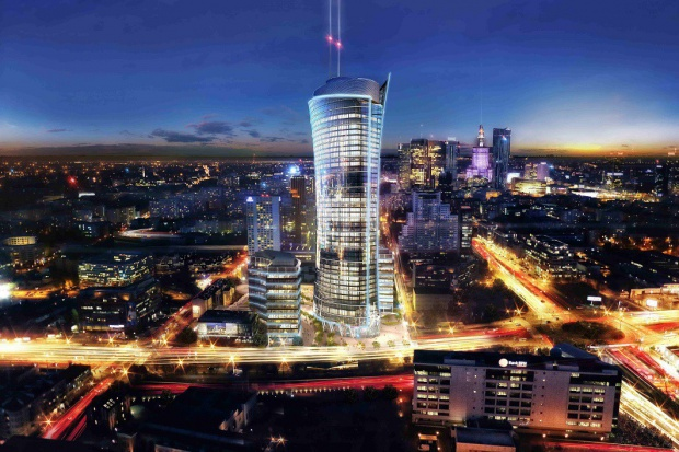 Za nieco ponad rok Warsaw Spire ma osiągnąć 220 metrów