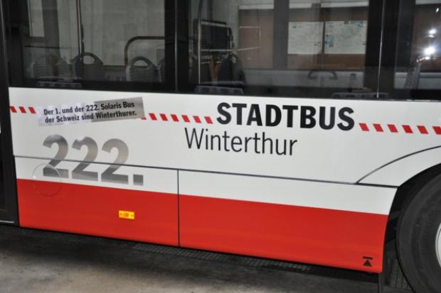 Solaris numer 222 w szwajcarskim Winterthur
