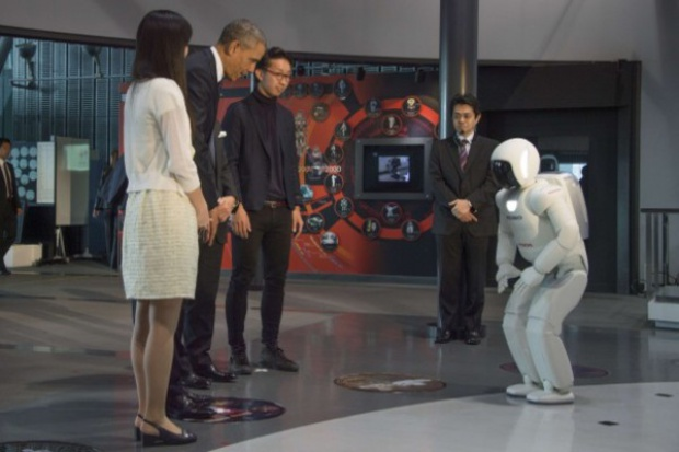 Honda: prezydent Obama u robota ASIMO
