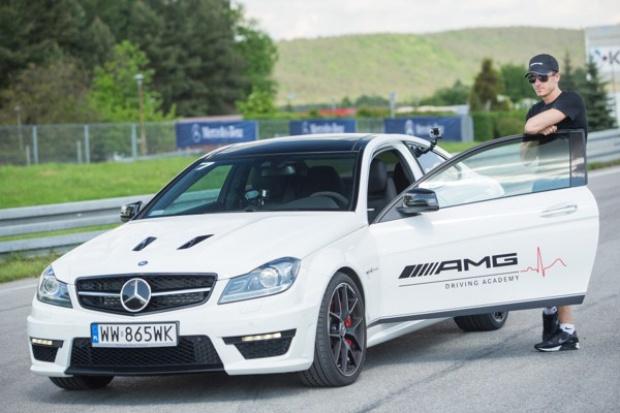 Robert Lewandowski w Mercedesie AMG