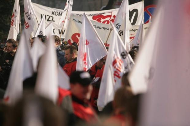 Górnicy demonstrowali w Sosnowcu i Katowicach
