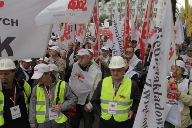 Exposé premier Kopacz z górniczym protestem w tle