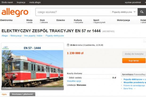PR sprzedają pociąg na  Allegro