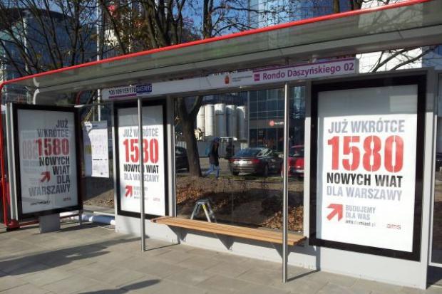 Warszawa będzie mieć 1580 nowych wiat przystankowych