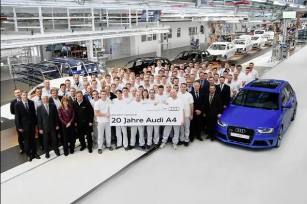 20 lat produkcji Audi A4 w fabryce w Ingolstadt